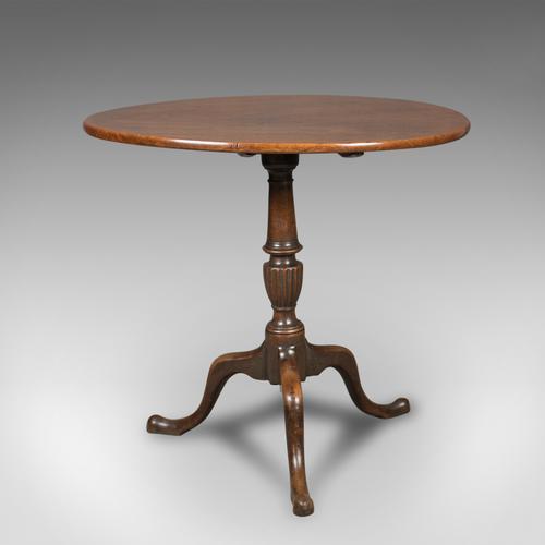 Georgian Antique Tilt Top Table in Mahogany c.1800 (1 of 1)
