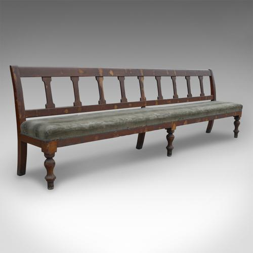 Antique Very Large 10' Station Railway Bench Seat Victorian c.1900 (1 of 1)