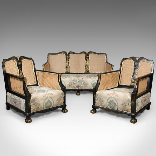 Aesthetic Movement Antique Conservatory Suite, Chinoiserie Bergere c.1890 (1 of 1)