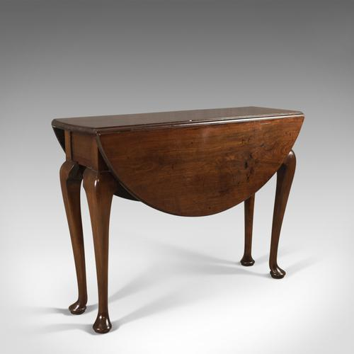 Antique Drop Flap Dining Table, Mahogany, English, Early Georgian c.1740 (1 of 1)