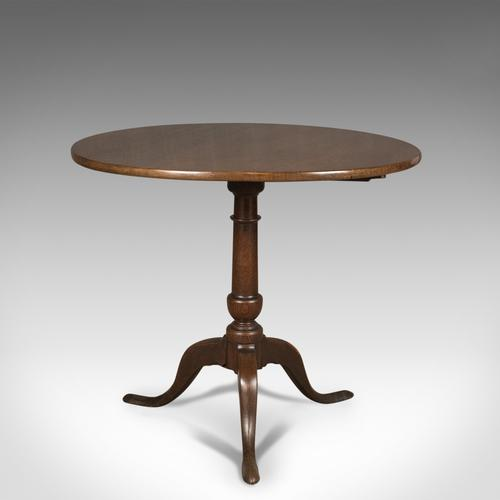 Georgian Antique Tilt Top Table c.1775 (1 of 1)