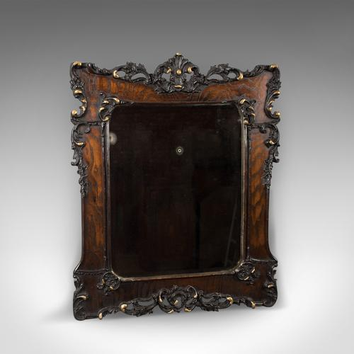 Antique Wall Mirror in Oak Frame, Late Victorian, English c.1890 (1 of 1)