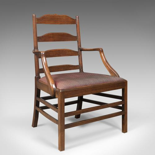 Late Georgian Antique Elbow Chair, English, Chippendale Overtones to Lower Frame (1 of 1)