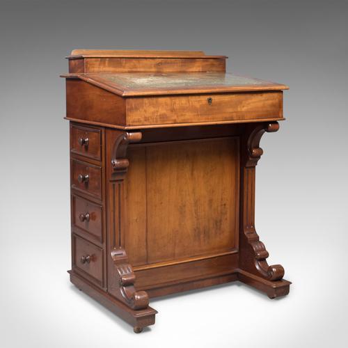 Antique Davenport, English, Victorian Writing Desk, Mahogany c.1870 (1 of 1)