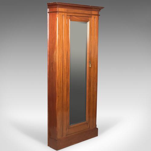 Victorian Antique Corner Wardrobe, Mahogany, English C.1880 (1 of 1)
