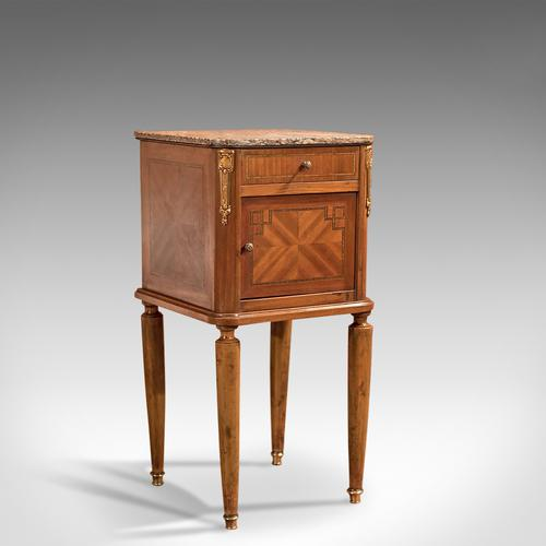 Antique Bedside Table, Mahogany Pot Cupboard, Nightstand c.1900 (1 of 1)