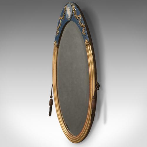 Victorian Antique Wall Mirror, Giltwood & Gesso Frame, Jasperware Plaque c.1890 (1 of 1)