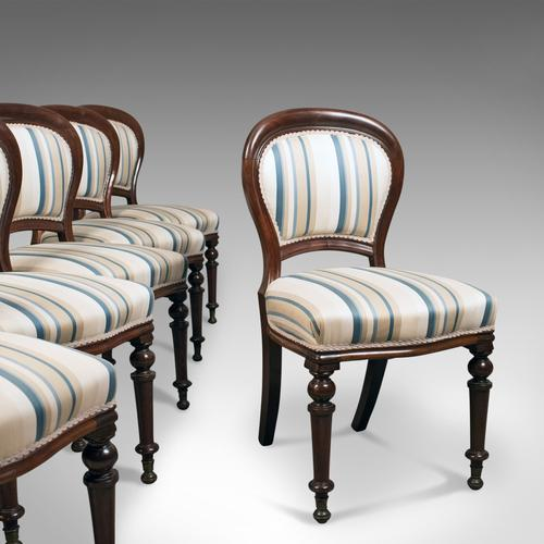 Set of Six Antique Dining Chairs, English, Victorian, Mahogany c.1860 (1 of 1)