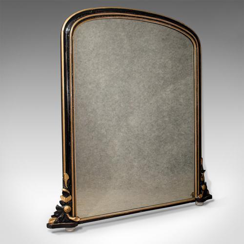 Regency Antique Overmantle Mirror in Ebonised Giltwood Frame c.1820 (1 of 1)
