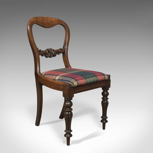 Antique Dining Chair, English, Buckle Back, Mahogany c.1835 (1 of 1)