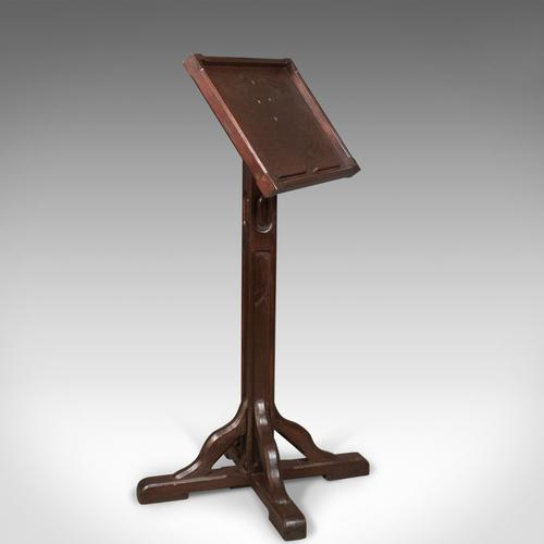 Antique Lectern in Pitch Pine, English Book Rest c.1900 (1 of 1)