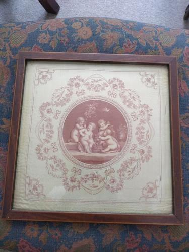 Pair of G B Cipriani Engravings on Silk (1 of 8)