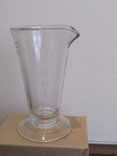 Small Victorian Apothecary Hand Engraved Measuring Glass (1 of 5)
