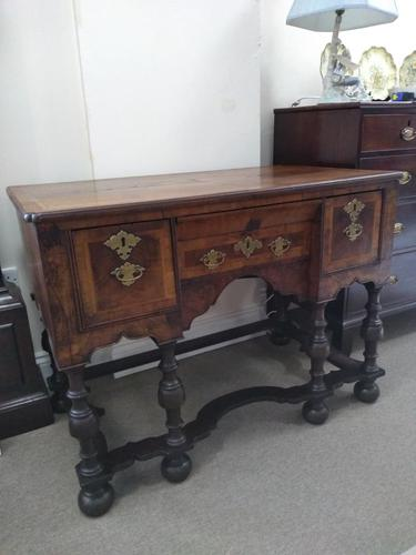 Burr Walnut Lowboy (1 of 8)