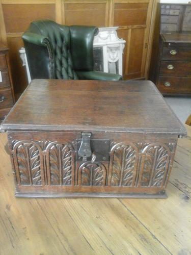 17th Century Oak Bible Box (1 of 1)