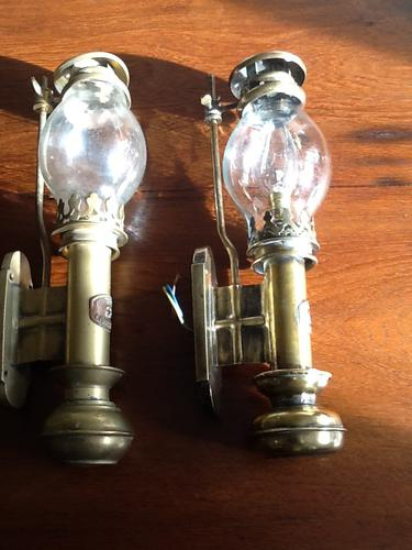 """Candle Wall Lamps as used on the """"Titanic"""" (1 of 1)"""