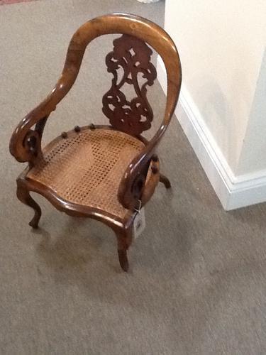 Walnut Children Chair C.1840 (1 of 1)