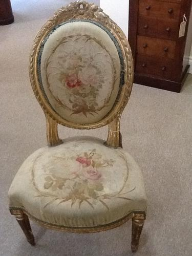 Victorian Gilded Nursing Chair / Bedroom Chair (1 of 1)