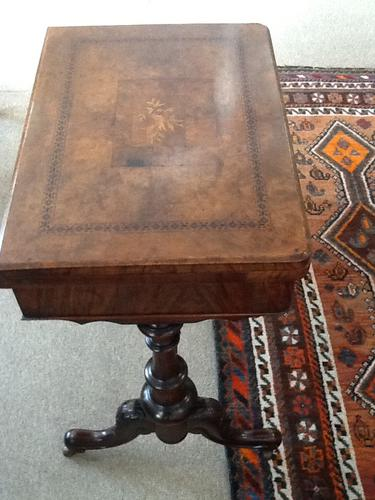 Edwardian Games Table / Work Table (1 of 1)