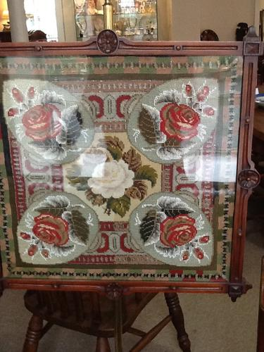 Late 19th Century Pole Screen (1 of 1)