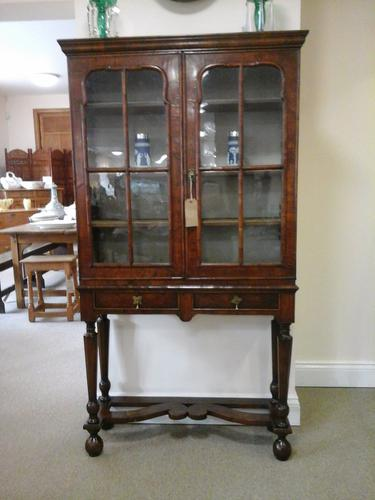 18th Century William & Mary Walnut Display Cabinet on Stand (1 of 1)