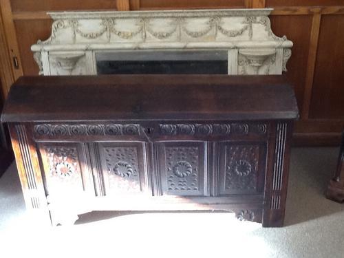 17th Century / 18th Century Oak Coffer (1 of 1)