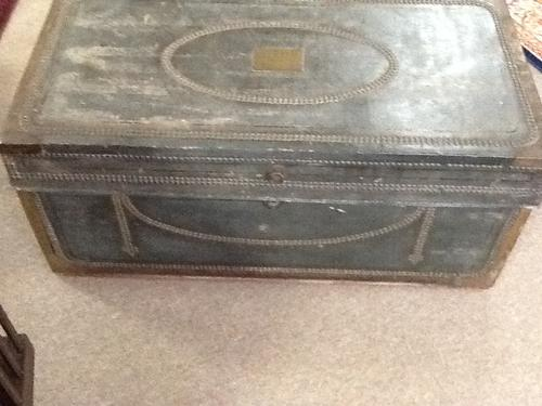 Victorian Leather Studded Trunk (1 of 1)