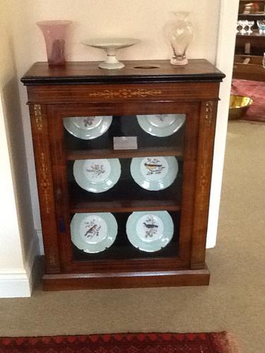 Victorian Walnut Display Cabinet (1 of 1)