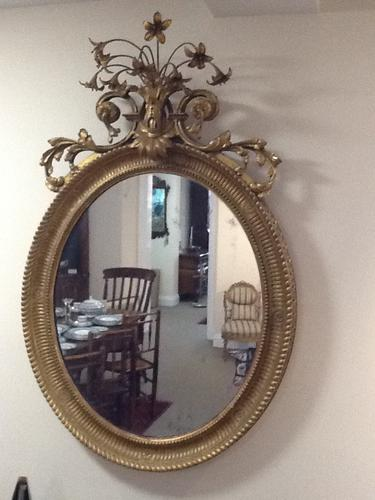 Pair of Ornate Georgian Gilt Mirrors (1 of 1)