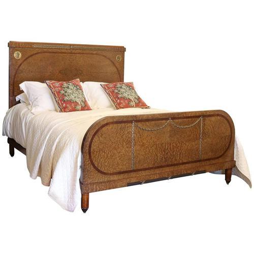 Empire Style Bedstead in Burr Walnut (1 of 1)