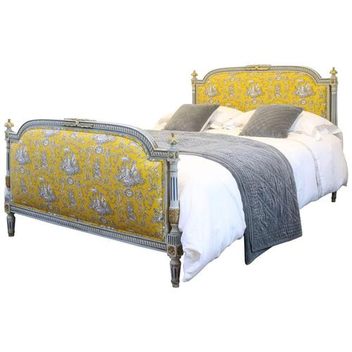 Painted Upholstered Louis XVI Style Bed (1 of 1)