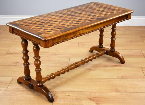 Victorian Walnut Parquetry Coffee Table (1 of 9)