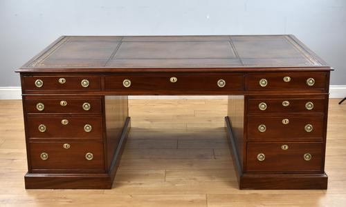 Victorian Mahogany Partners Desk (1 of 12)