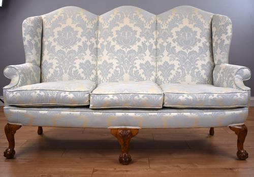 Antique Queen Anne Style Sofa c.1920 (1 of 11)