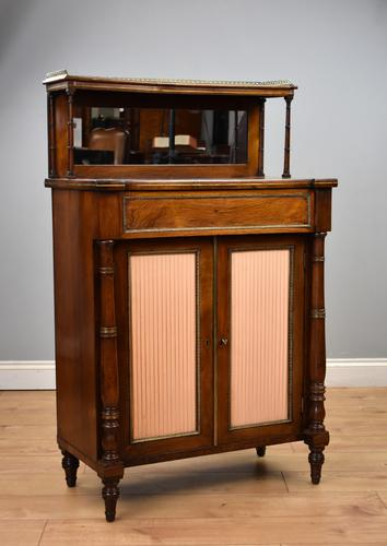Regency Rosewood & Brass Inlaid Chiffonier (1 of 12)