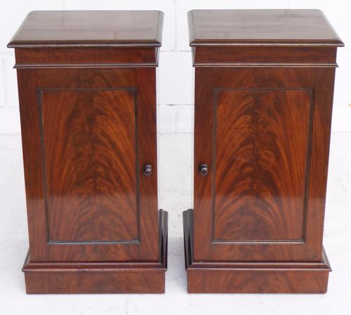Pair of Early 20th Century Mahogany Bedside Cupboards (1 of 1)