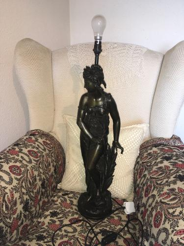 Metal Lady Table Lamp (1 of 4)