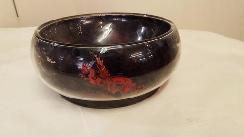 Stourbridge Dg Ware Dragon Glass Bowl (1 of 1)