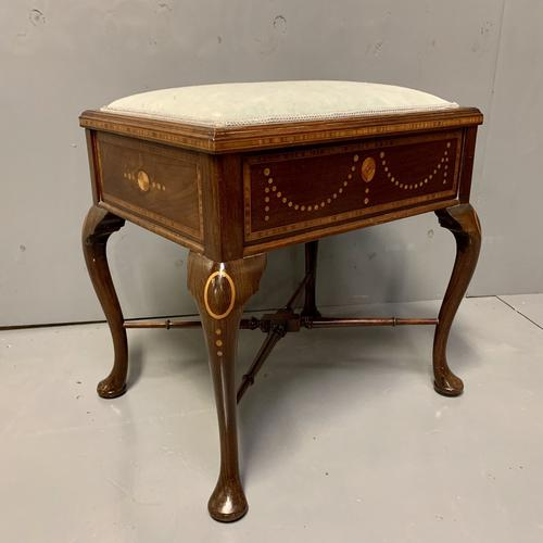 Edwardian Marquetry Piano Stool (1 of 7)
