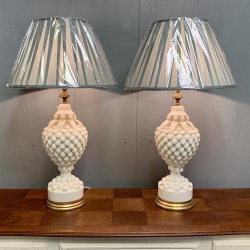 """Large Pair of Spanish Lamps by """"Bondia"""" of Manises (1 of 12)"""