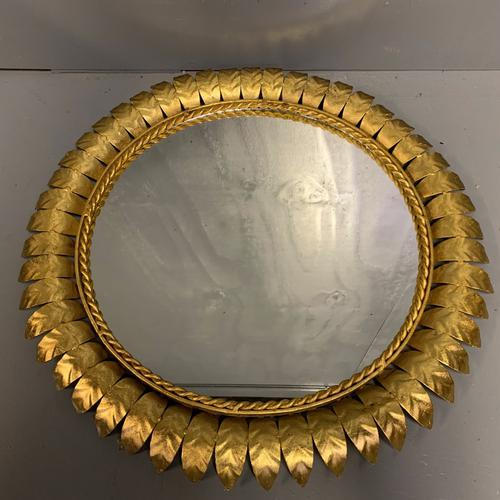 Spanish Gilt Sunburst Mirror (1 of 6)