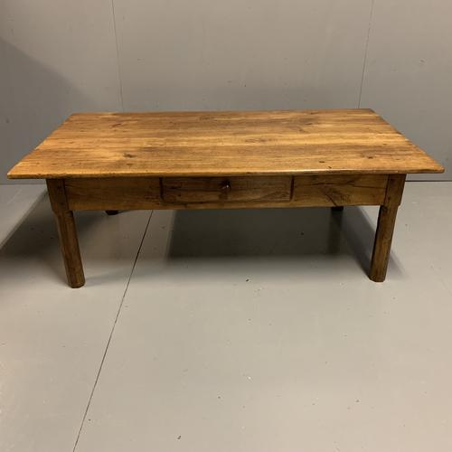 Antique French Cherry Coffee Table with Drawer (1 of 7)