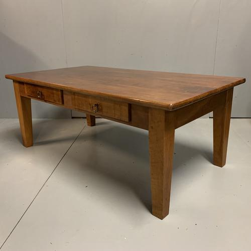 French Cherry Coffee Table with 2 Drawers (1 of 8)