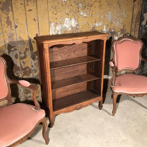 French Solid Oak Bookcase with Adjustable Shelves c.1920 (1 of 1)