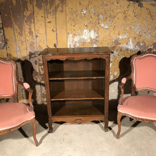 French Dark Oak Bookcase with Adjustable Shelves c.1920 (1 of 1)