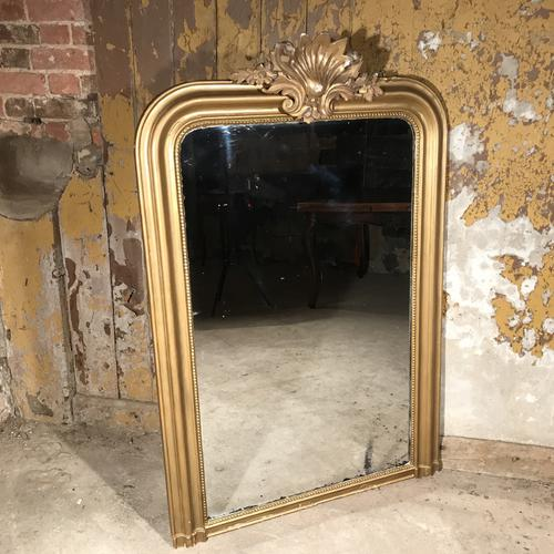 French Gilt Overmantle Mirror 54'' X 35'' c.1920 (1 of 1)