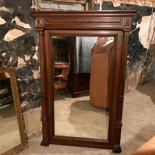 Large French Mahogany Mirror c.1900 (1 of 1)