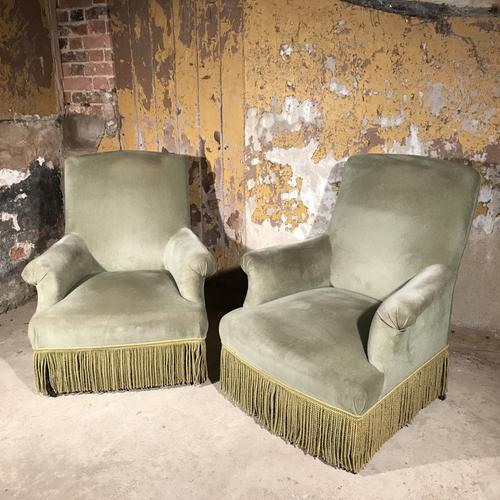 Pair of French Armchairs / Fauteuil with Ebonised Legs C.1920 (1 of 1)