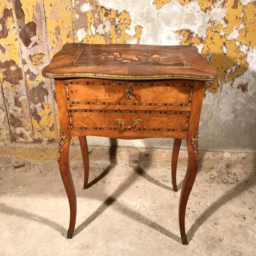 French Marquetry Sewing Table Side Table c.1890 (1 of 1)