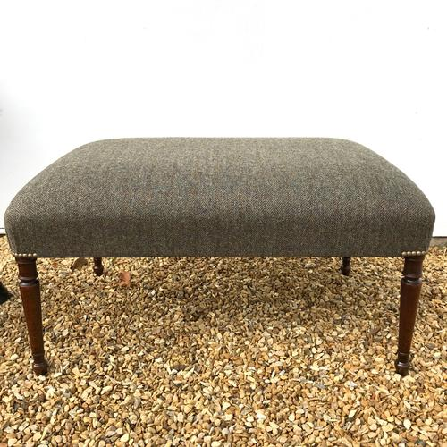 Victorian Centre Stool with Harris Tweed (1 of 1)